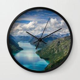 Winding lake Wall Clock