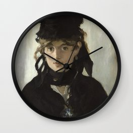 Edouard Manet - Young woman in a black hat Wall Clock