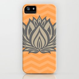 Lotus Meditation Orange Throw Pillow iPhone Case