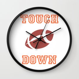 Touch Down In American Football II Wall Clock