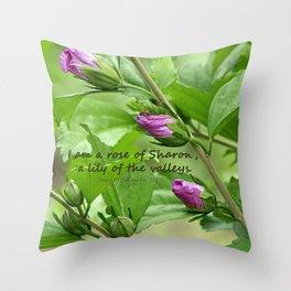 Song of Solomon 2:1 Throw Pillow