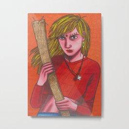 Plank Girl Metal Print