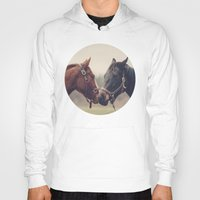 horses Hoodies featuring Horses  by Laura Ruth