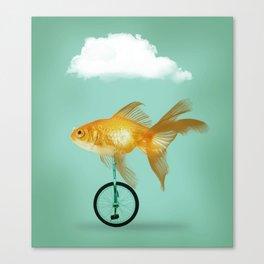 unicyle goldfish III Canvas Print