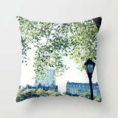 New York, NYC, Central Park in spring Throw Pillow