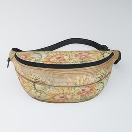 Vintage Sunflowers #8 Fanny Pack