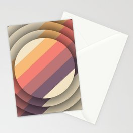 Retro Circle Geometric Pattern Cutest Stationery Cards