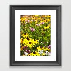 70s Summer ~ flowers Framed Art Print