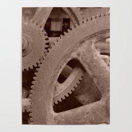 Big Gears (sepia ) Poster