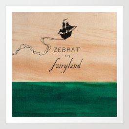 Zebrat in Fairyland - Album Art Art Print