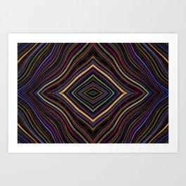 Wild Wavy Diamonds 27 Art Print