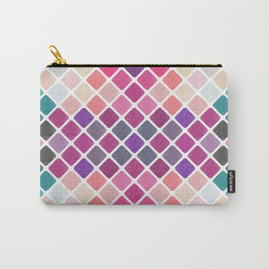 Watercolor Geometric Pattern III Carry-All Pouch
