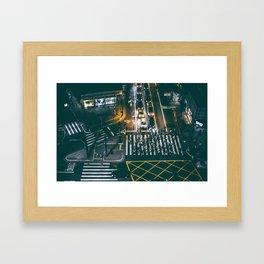 Night walking street 4 Framed Art Print