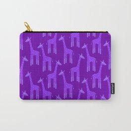 Giraffes-Purple Carry-All Pouch
