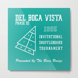 Del Boca Vista Shuffleboard Tournament Metal Print