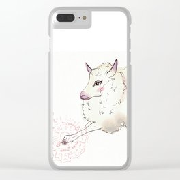 Wise Sheep Clear iPhone Case