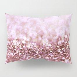 Pink Sparkle shiny glitter effect print - Sparkle Valentine Backdrop Pillow Sham