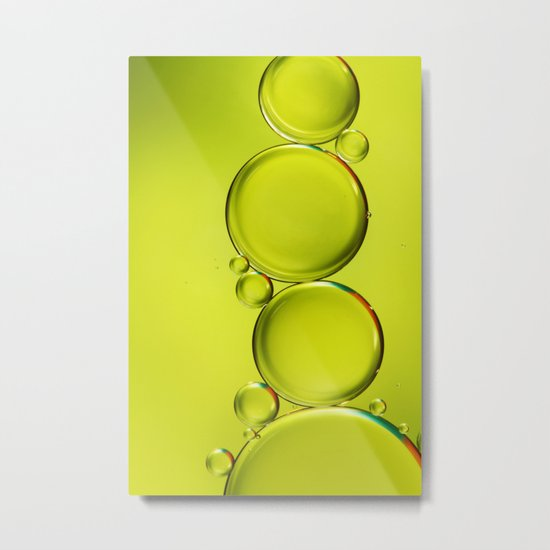 Simply Lime II Metal Print