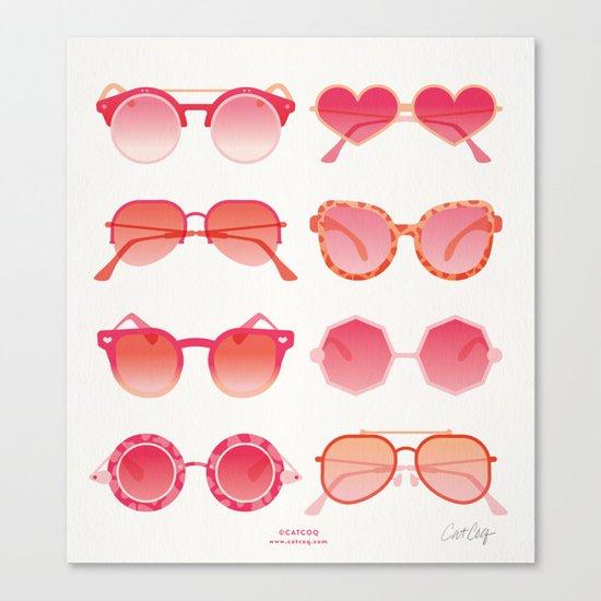 Sunglasses Collection – Pink Ombré Palette Canvas Print