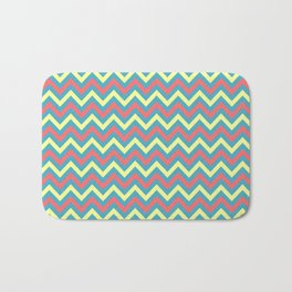 Chevron - coastal 2 Bath Mat