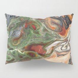Green Rust Black Brown Lava Flow Pillow Sham