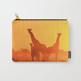 Giraphe Family Carry-All Pouch