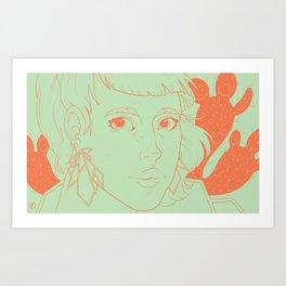 Etsy Girl Art Print