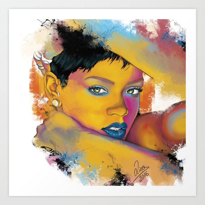 Rihanna Kunstdrucke