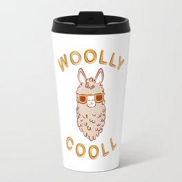 Woolly Cooll Cute Llama Pun Travel Mug
