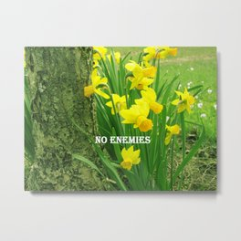 Daffodil Yellow Flower Gold Ring Hope Symbol   Metal Print