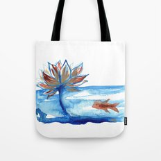 The Lotus and the Goldfish Tote Bag