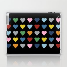 64 Hearts Black Laptop & iPad Skin