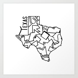 Lone Star Art Prints | Society6