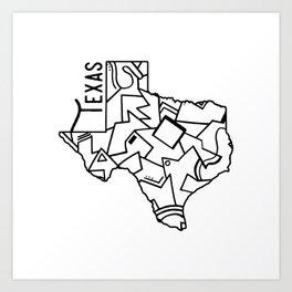 Texas Strong Art Print