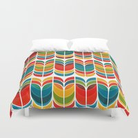 rainbow Duvet Covers featuring Tulip by Picomodi