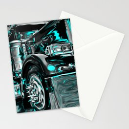Big rig truck Stationery Cards