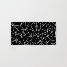 Abstraction Outline Black and White Hand & Bath Towel