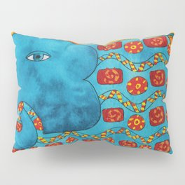 Patterned Elephant Pillow Sham