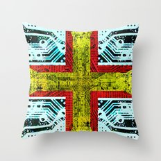 circuit board guernsey Throw Pillow