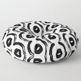 Contemporary, Modern Black and White Trendy Pattern Floor Pillow