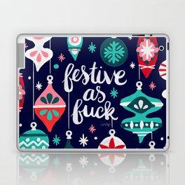 Festive As Fuck – Navy Palette Laptop & iPad Skin