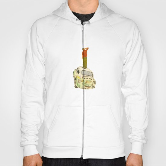 man listening something from the sky Hoody