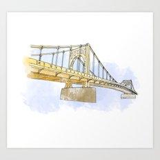 Sister Bridge Art Print