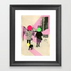 Fluo Conversations Framed Art Print