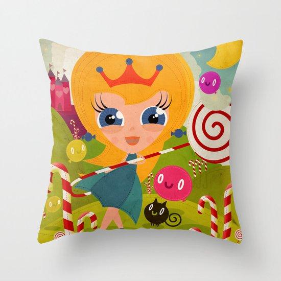 Caramel Princess Throw Pillow
