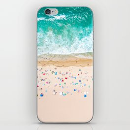 Drone shot of Manhattan beach iPhone Skin