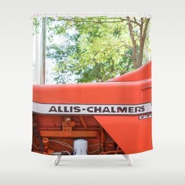 Allis - Chalmers Vintage Tractor Shower Curtain