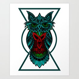 Owl The Nocturnal Art Print