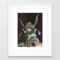 baphomet Framed Art Prints featuring Baphomet by Nicholas Lockyer