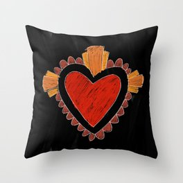 Black love Throw Pillow